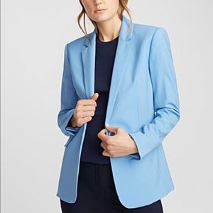 H&M single breasted light blue blazer